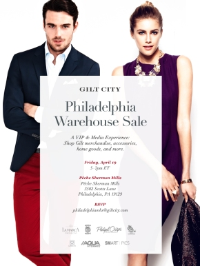 Win Tickets to Gilt City's Philadelphia Warehouse Sale this Friday!